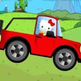 hello kitty desafio de conduccion de coche