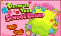 decora la pizarra de tu colegio