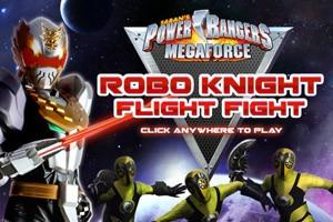 power rangers megafuerza caballero robot lucha de vuelo