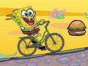 bob esponja en bicicleta