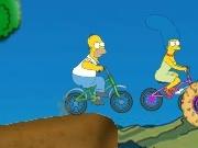 carrera de bicicletas con los simpsons