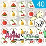 Conexión saludable de manzana y cebollín