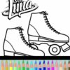 Colorear los Patines de Soy Luna