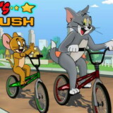 Carrera de BMX con Tom y Jerry