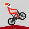 Stickman Noel: Caballito en Bicicleta BMX