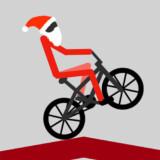 Stickman Noel Caballito en Bicicleta BMX