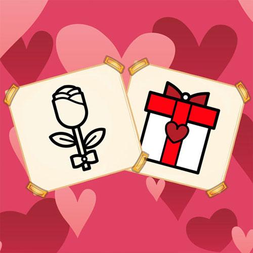 Colorear Regalos de San Valentín