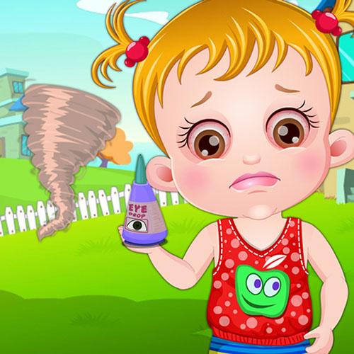 Cuidado de los ojos de Baby Hazel