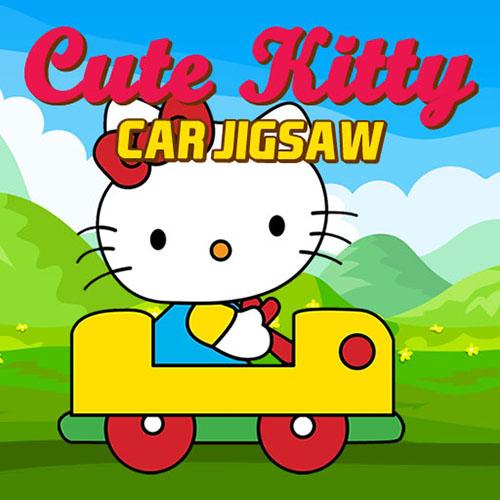 Lindo Rompecabezas del Coche de Kitty