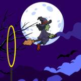 Bruja Voladora de Halloween