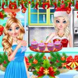 Preparar Pasteles de Navidad con Elsa de Frozen
