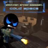 Stickman Asesino Armado Espacio Frio