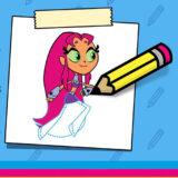 Como dibujar a Starfire