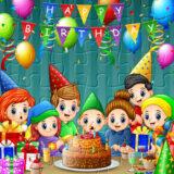 Rompecabezas de  Feliz Cumpleaños en Familia